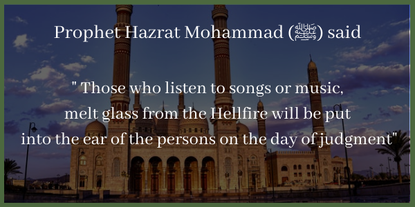Punishment for listening to music in Islam